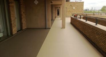 Flexibele galerij coating